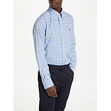 Buy Polo Ralph Lauren Check Dress Shirt, Blue/Grass Multi Online at johnlewis.com