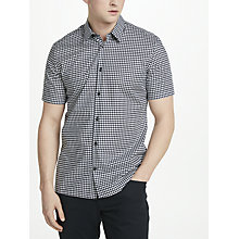 Buy J.Lindeberg Daniel Short Sleeve Houndstooth Shirt, White Online at johnlewis.com