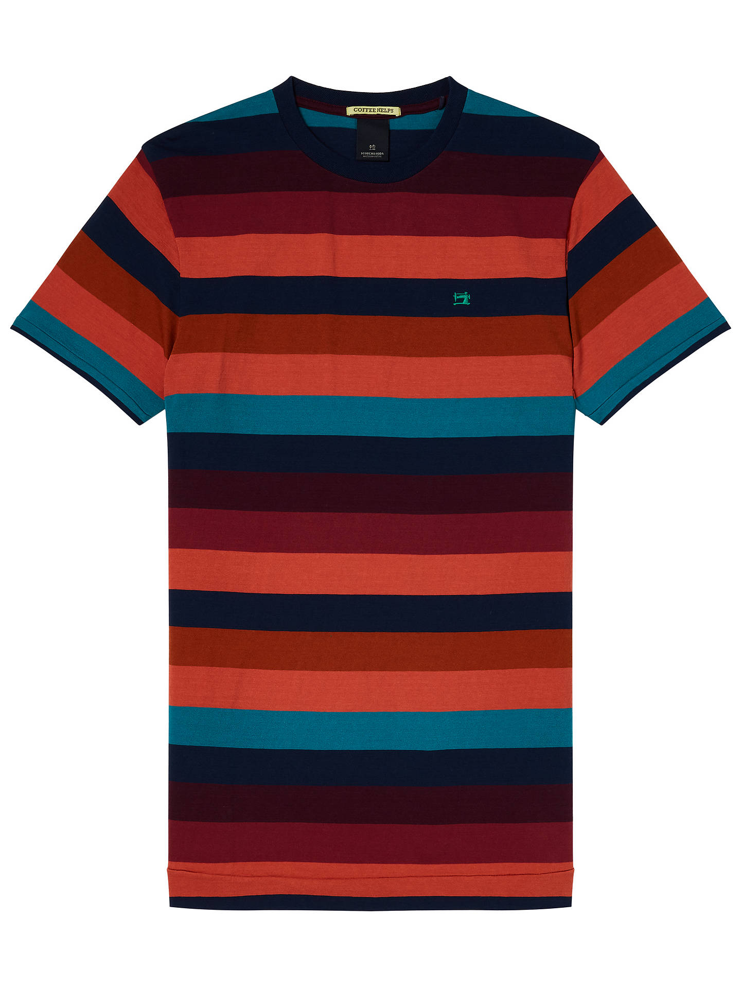 Buy Scotch & Soda Short Sleeve Stripe T-Shirt, Multi, S Online at johnlewis.com