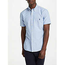 Buy Polo Ralph Lauren Short Sleeve Slim Oxford Shirt Online at johnlewis.com