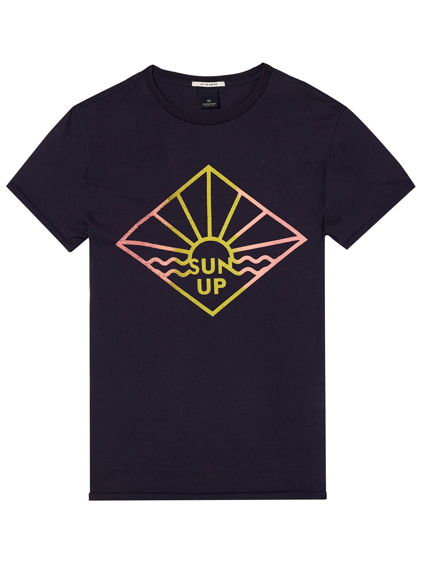 BuyScotch & Soda Short Sleeve Sun Print T-Shirt, Night, S Online at johnlewis.com