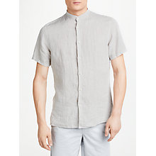 Buy J.Lindeberg Daniel Short Sleeve Linen Shirt Online at johnlewis.com