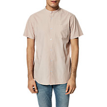 Buy Selected Homme Twocrisp Granddad Collar Shirt, Shadow Grey Online at johnlewis.com