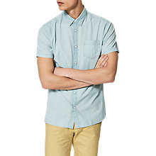 Buy Selected Homme Chester Short Sleeve Denim Shirt, Light Blue Online at johnlewis.com
