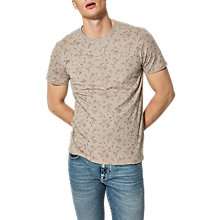 Buy Selected Homme Neo Short Sleeved Floral T-Shirt, Shadow Grey Online at johnlewis.com