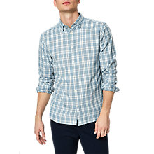Buy Selected Homme Gunnar Check Shirt, Light Blue Check Online at johnlewis.com