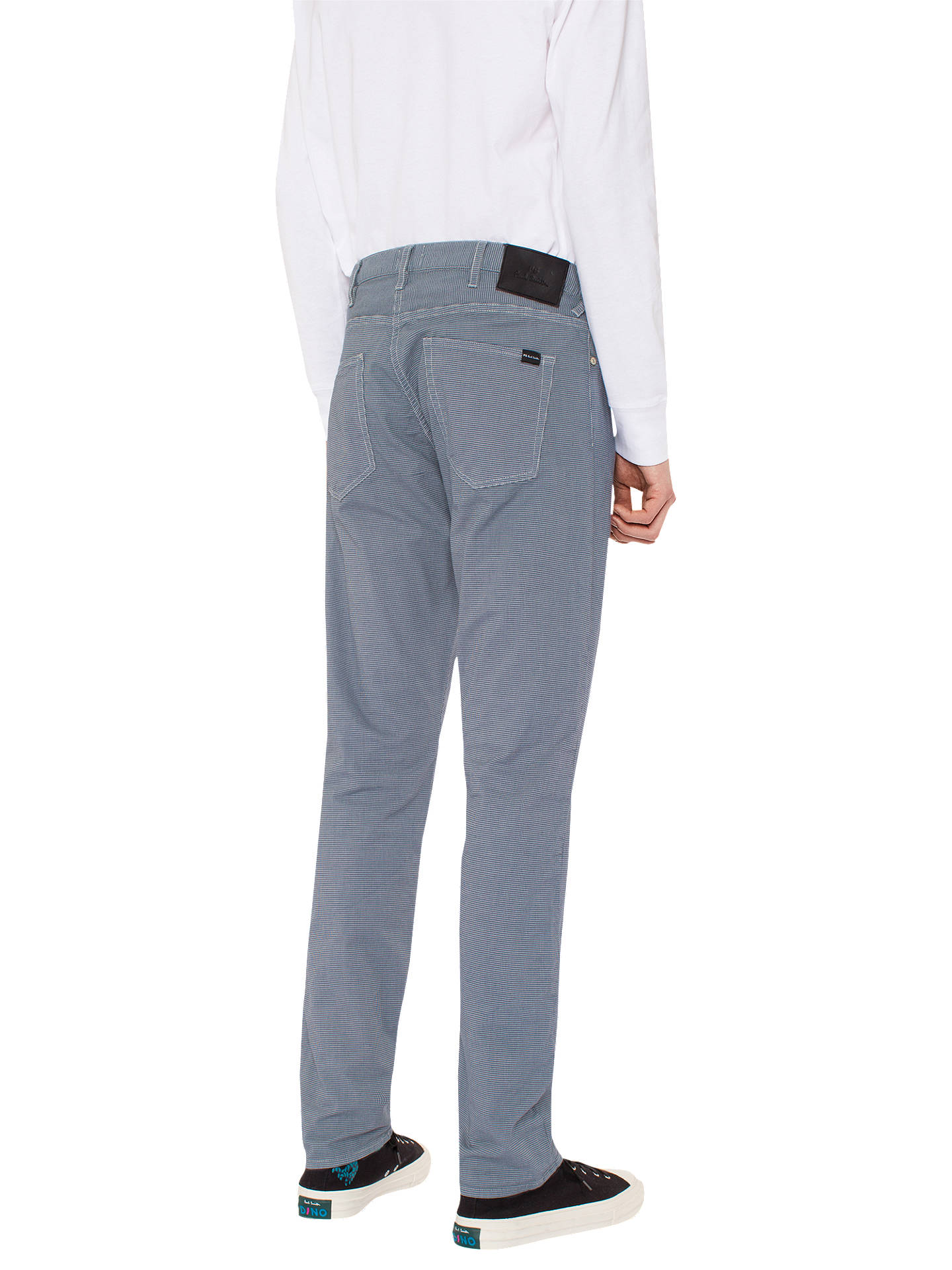 Buy PS Paul Smith Five Pocket Puppytooth Tapered Jeans, Blue, 30R Online at johnlewis.com