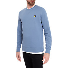 Buy Lyle & Scott Crew Neck Sweatshirt, Mist Blue Online at johnlewis.com