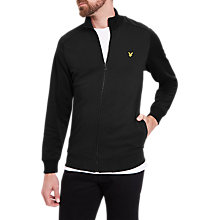 Buy Lyle & Scott Zip Through Funnel Neck Sweatshirt, True Black Online at johnlewis.com