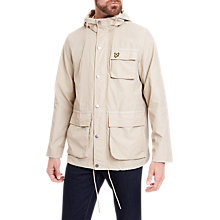 Buy Lyle & Scott Hooded Jacket, Light Stone Online at johnlewis.com
