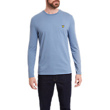 Buy Lyle & Scott Plain Crew Neck Long Sleeve T-Shirt, Mist Blue Online at johnlewis.com