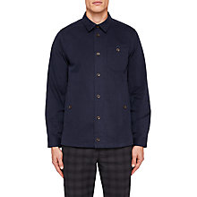 Buy Ted Baker Keebord Long Sleeve Shirt, Navy Online at johnlewis.com