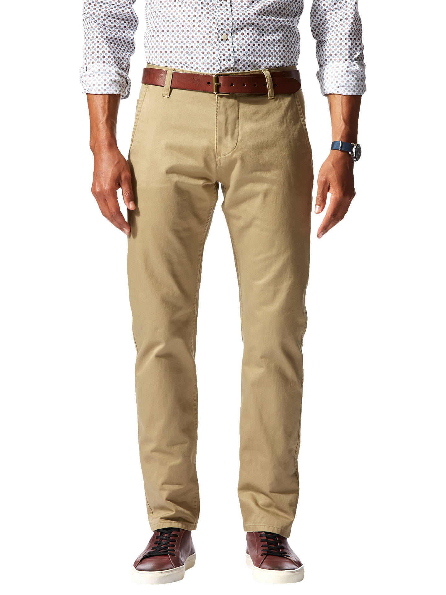 Buy Dockers Alpha Original Slim Fit Trousers, New British Khaki, 34S Online at johnlewis.com