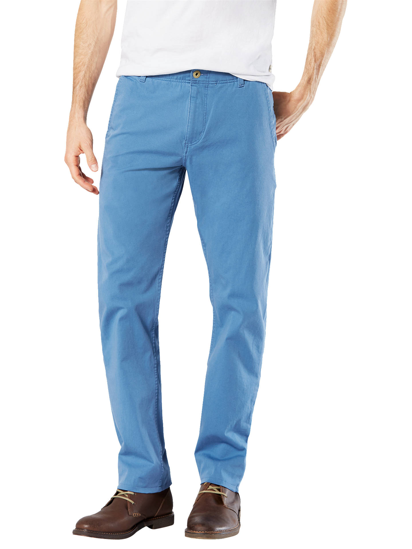 a7be33cfb31aff Buy Dockers Alpha Khaki Smart 360 Flex Slim Tapered Trousers, Sunset Blue,  32S Online ...