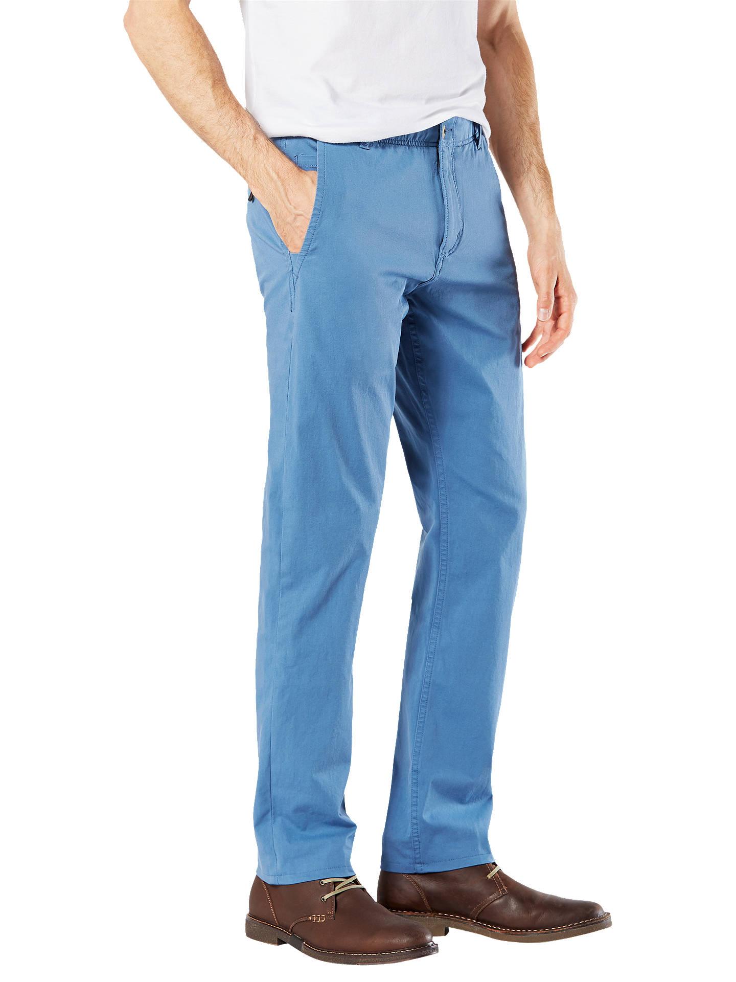 3a93c2a6ef33b8 ... Buy Dockers Alpha Khaki Smart 360 Flex Slim Tapered Trousers, Sunset  Blue, 32S Online