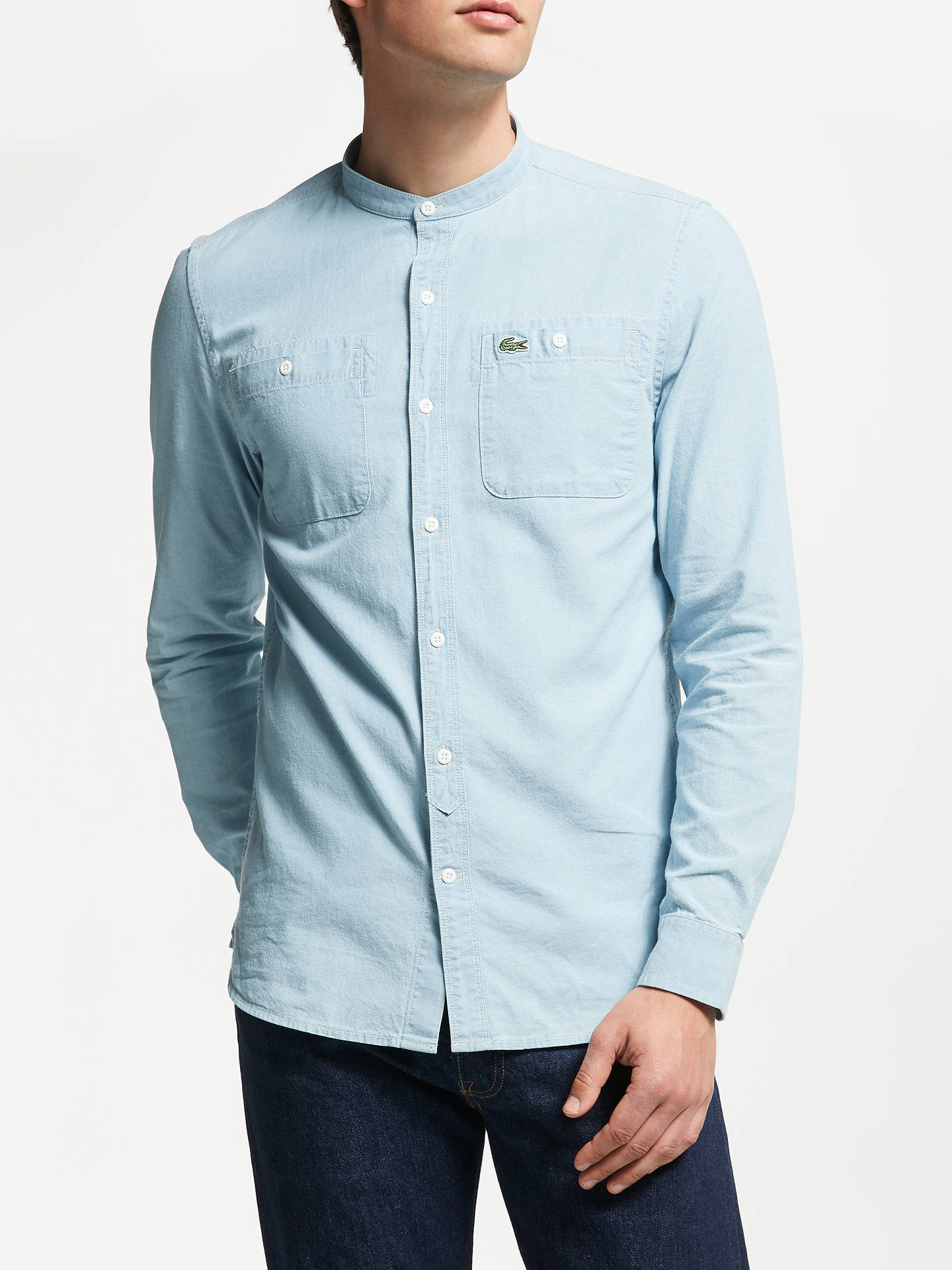918330d10 View All Men s Shirts. Previous Image Next Image. Buy Lacoste LIVE Grandad  Collar Long Sleeve Shirt