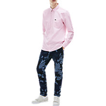 Buy Lacoste LIVE Long Sleeve Oxford Shirt, Pink Online at johnlewis.com