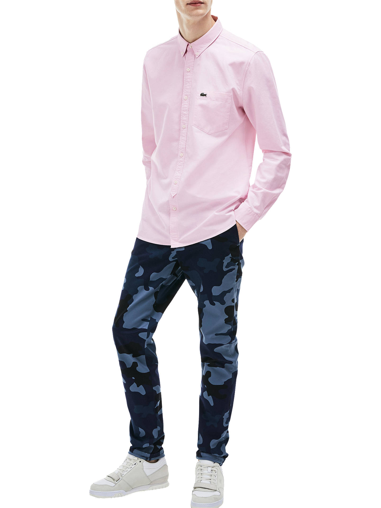 321471a1 Buy Lacoste LIVE Long Sleeve Oxford Shirt, Pink, S Online at johnlewis.com  ...