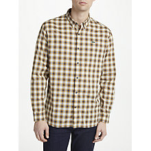 Buy Lacoste LIVE Boxy Long Sleeve Check Shirt, Brown Online at johnlewis.com