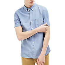 Buy Lacoste LIVE Short Sleeve Contrast Trim Oxford Shirt Online at johnlewis.com