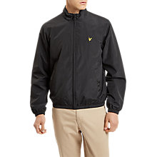 Buy Lyle & Scott Lightweight Funnel Neck Jacket, True Black Online at johnlewis.com