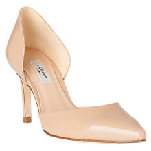Buy L.K.Bennett Flossie Two Part Stiletto Heel Court Shoes, Trench Patent Online at johnlewis.com