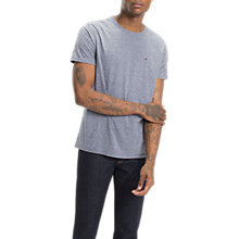 Buy Tommy Jeans Triblend Crew Neck T-Shirt, Black Iris Online at johnlewis.com