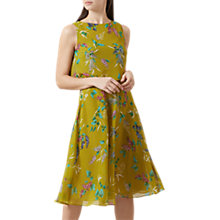 Buy Hobbs Ember Floral Dress, Chartreuse/Multi Online at johnlewis.com