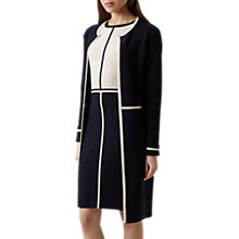Buy Hobbs Serena Coatigan, Navy/Ivory Online at johnlewis.com
