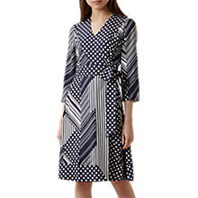Buy Hobbs Shelly Dress, Navy/Ivory Online at johnlewis.com
