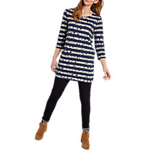 Buy White Stuff Stitchy Flower Jersey Tunic Top, Navy/Multi Online at johnlewis.com