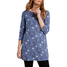 Buy White Stuff Farrah Printed Jersey Tunic Dress, Blue Online at johnlewis.com