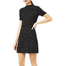 Buy Warehouse Mono Tweed Dress, Black Pattern Online at johnlewis.com