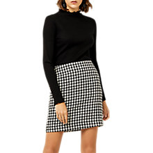 Buy Warehouse Dogs Tooth Pelmet Skirt, Black Pattern Online at johnlewis.com