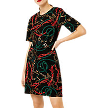 Buy Warehouse Stirrup Rope Dress, Black Pattern Online at johnlewis.com