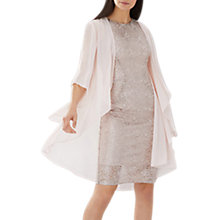 Buy Coast Carrie Chiffon Long Cape, Blush Online at johnlewis.com