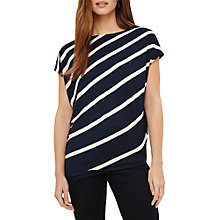 Buy Amy Symmetric Top, Navy/Pink Online at johnlewis.com