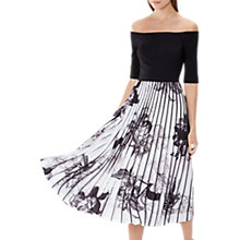 Buy Coast Horatio Print Pleated Dress, Mono Online at johnlewis.com
