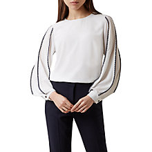 Buy Hobbs Gina Top, Ivory/Navy Online at johnlewis.com