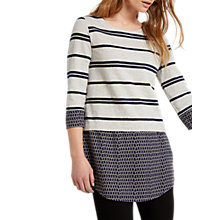 Buy White Stuff Skyscraper Stripe Jersey Tunic, Grey Online at johnlewis.com
