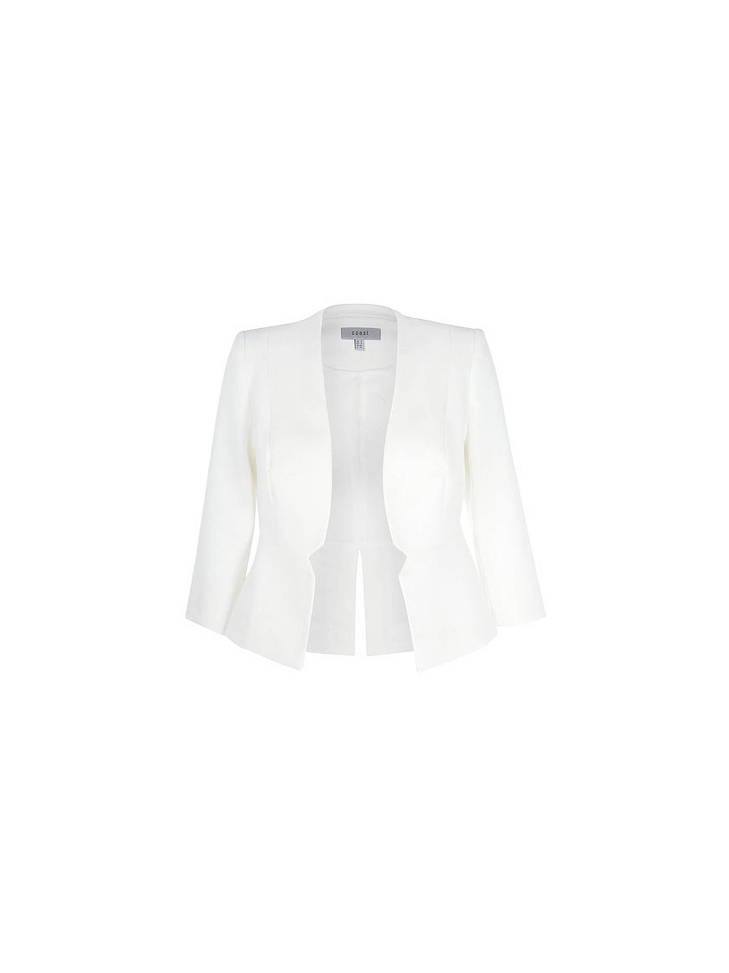BuyCoast Tyler Notch Detail Jacket, Ivory, 6 Online at johnlewis.com