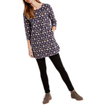 Buy White Stuff Farrah Printed Jersey Tunic Dress, Navy Online at johnlewis.com