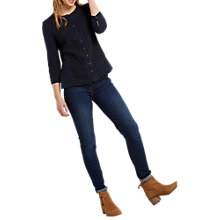 Buy White Stuff Kate Jersey Shirt, Navy Online at johnlewis.com