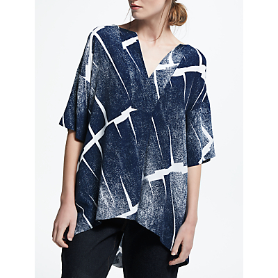 Kin by John Lewis Cross Neck Kimono Top, Blue