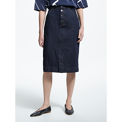 Kin by John Lewis Denim Pencil Skirt, Indigo