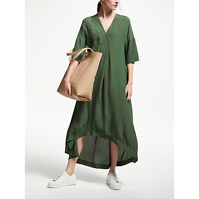 Kin by John Lewis Cross Neck Kimono Dress, Khaki