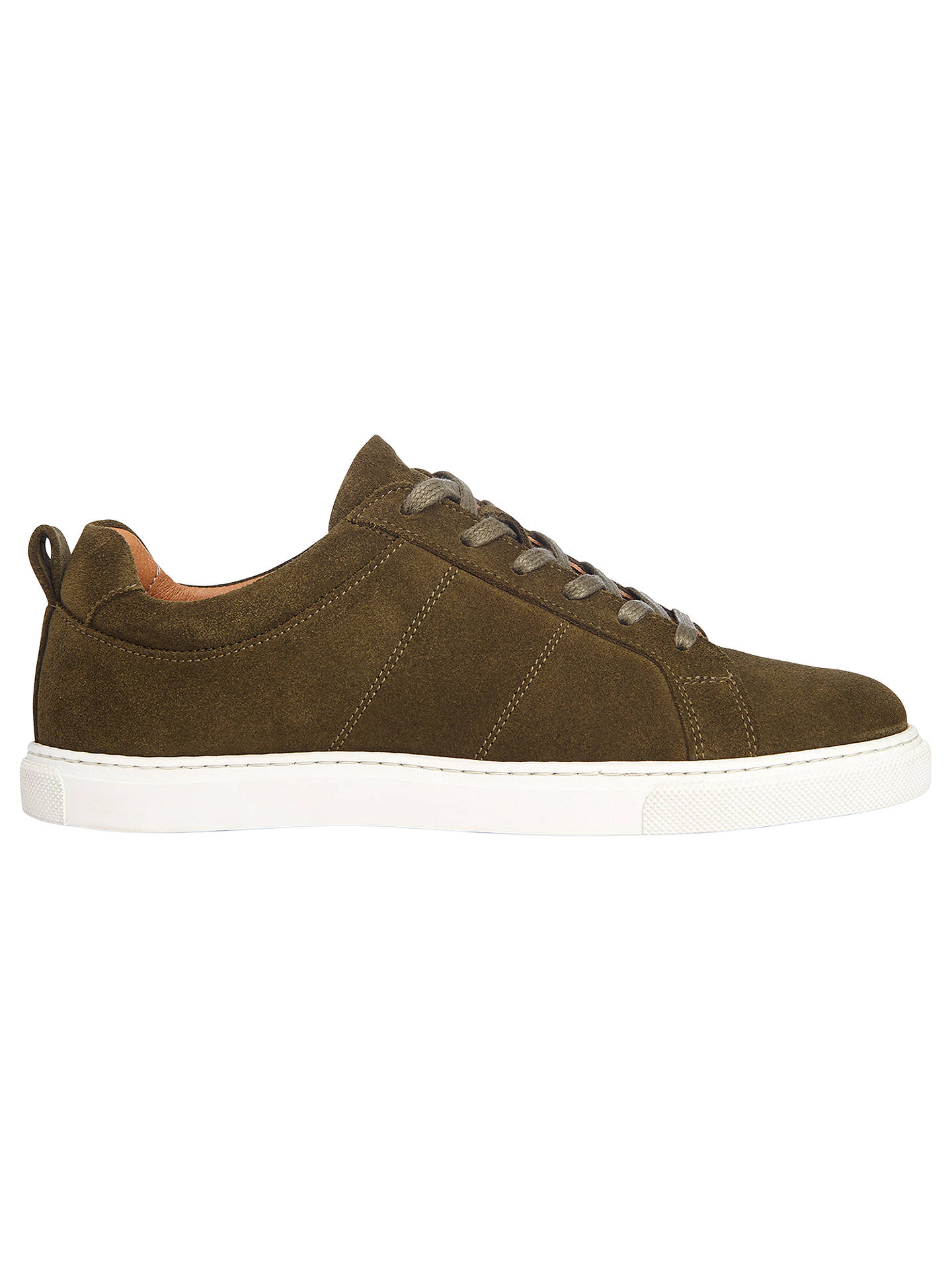Whistles Koki Lace Up Trainers, Khaki Suede by Whistles