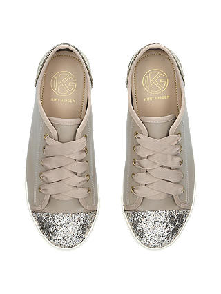 Miss KG Lucca Embellished Lace Up Trainers, Nude at John
