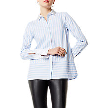 Buy Karen Millen Embellished Collar Shirt, Blue/Multi Online at johnlewis.com