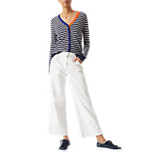Buy Jigsaw Tipped Breton Stripe Cardigan, Ivory Online at johnlewis.com